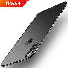 Handyhülle Hülle Kunststoff Schutzhülle Tasche Treibsand für Huawei Nova 4 Schwarz