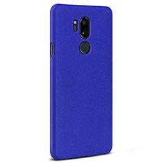 Handyhülle Hülle Kunststoff Schutzhülle Tasche Treibsand für LG G7 Blau