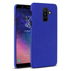 Handyhülle Hülle Kunststoff Schutzhülle Tasche Treibsand für Samsung Galaxy A6 Plus (2018) Blau