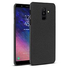Handyhülle Hülle Kunststoff Schutzhülle Tasche Treibsand für Samsung Galaxy A6 Plus (2018) Schwarz