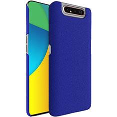 Handyhülle Hülle Kunststoff Schutzhülle Tasche Treibsand für Samsung Galaxy A80 Blau
