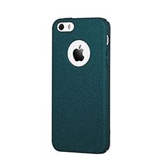 Handyhülle Hülle Kunststoff Schutzhülle Treibsand für Apple iPhone SE Blau