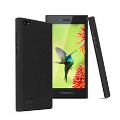 Handyhülle Hülle Kunststoff Schutzhülle Treibsand für Blackberry Leap Schwarz