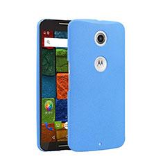 Handyhülle Hülle Kunststoff Schutzhülle Treibsand für Google Nexus 6 Blau