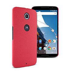 Handyhülle Hülle Kunststoff Schutzhülle Treibsand für Google Nexus 6 Rot