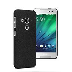 Handyhülle Hülle Kunststoff Schutzhülle Treibsand für HTC Butterfly 3 Schwarz