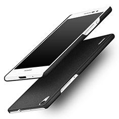 Handyhülle Hülle Kunststoff Schutzhülle Treibsand für Huawei Ascend P7 Schwarz