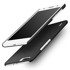Handyhülle Hülle Kunststoff Schutzhülle Treibsand für Huawei Honor 6 Plus Schwarz