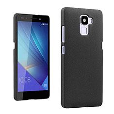 Handyhülle Hülle Kunststoff Schutzhülle Treibsand für Huawei Honor 7 Dual SIM Schwarz