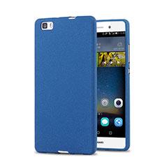 Handyhülle Hülle Kunststoff Schutzhülle Treibsand für Huawei P8 Lite Blau