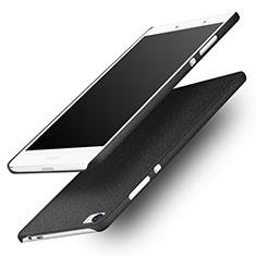 Handyhülle Hülle Kunststoff Schutzhülle Treibsand für Huawei P8 Max Schwarz