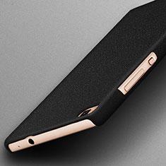 Handyhülle Hülle Kunststoff Schutzhülle Treibsand für Huawei P8 Schwarz