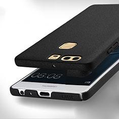 Handyhülle Hülle Kunststoff Schutzhülle Treibsand für Huawei P9 Plus Schwarz