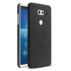 Handyhülle Hülle Kunststoff Schutzhülle Treibsand für LG V30 Schwarz