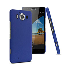 Handyhülle Hülle Kunststoff Schutzhülle Treibsand für Microsoft Lumia 950 Blau