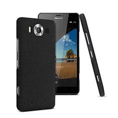 Handyhülle Hülle Kunststoff Schutzhülle Treibsand für Microsoft Lumia 950 Schwarz