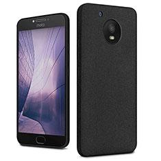 Handyhülle Hülle Kunststoff Schutzhülle Treibsand für Motorola Moto E4 Plus Schwarz