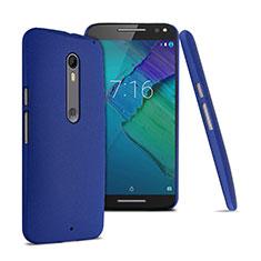Handyhülle Hülle Kunststoff Schutzhülle Treibsand für Motorola Moto X Style Blau