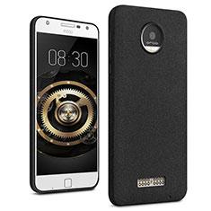 Handyhülle Hülle Kunststoff Schutzhülle Treibsand für Motorola Moto Z Schwarz