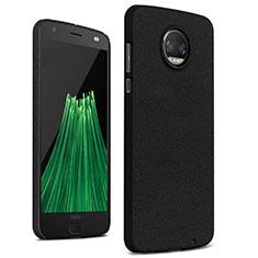 Handyhülle Hülle Kunststoff Schutzhülle Treibsand für Motorola Moto Z2 Force Schwarz