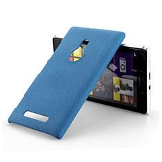 Handyhülle Hülle Kunststoff Schutzhülle Treibsand für Nokia Lumia 925 Blau