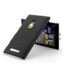 Handyhülle Hülle Kunststoff Schutzhülle Treibsand für Nokia Lumia 925 Schwarz