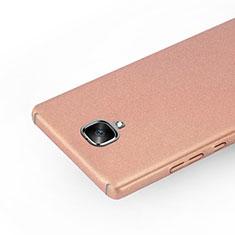 Handyhülle Hülle Kunststoff Schutzhülle Treibsand für OnePlus 3T Rosegold