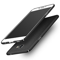 Handyhülle Hülle Kunststoff Schutzhülle Treibsand für Samsung Galaxy C7 Pro C7010 Schwarz