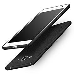 Handyhülle Hülle Kunststoff Schutzhülle Treibsand für Samsung Galaxy J3 Pro (2016) J3110 Schwarz