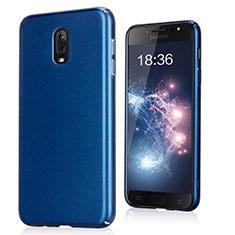 Handyhülle Hülle Kunststoff Schutzhülle Treibsand für Samsung Galaxy J7 Plus Blau