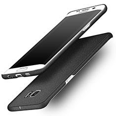 Handyhülle Hülle Kunststoff Schutzhülle Treibsand für Samsung Galaxy S6 Edge SM-G925 Schwarz