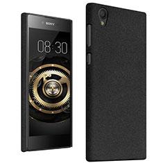 Handyhülle Hülle Kunststoff Schutzhülle Treibsand für Sony Xperia L1 Schwarz