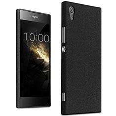 Handyhülle Hülle Kunststoff Schutzhülle Treibsand für Sony Xperia XA1 Schwarz