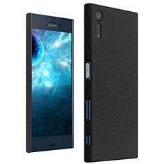 Handyhülle Hülle Kunststoff Schutzhülle Treibsand für Sony Xperia XZs Schwarz
