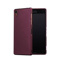 Handyhülle Hülle Kunststoff Schutzhülle Treibsand für Sony Xperia Z3 Rot