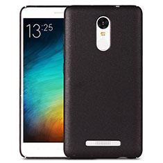 Handyhülle Hülle Kunststoff Schutzhülle Treibsand für Xiaomi Redmi Note 3 MediaTek Schwarz