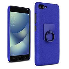 Handyhülle Hülle Kunststoff Schutzhülle Treibsand mit Fingerring Ständer für Asus Zenfone 4 Max ZC554KL Blau