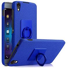Handyhülle Hülle Kunststoff Schutzhülle Treibsand mit Fingerring Ständer für Blackberry DTEK50 Blau