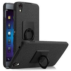 Handyhülle Hülle Kunststoff Schutzhülle Treibsand mit Fingerring Ständer für Blackberry DTEK50 Schwarz