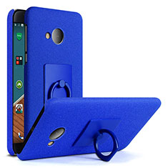 Handyhülle Hülle Kunststoff Schutzhülle Treibsand mit Fingerring Ständer für HTC U Play Blau