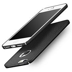 Handyhülle Hülle Kunststoff Schutzhülle Treibsand Q01 für Apple iPhone 5S Schwarz