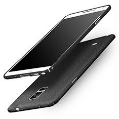 Handyhülle Hülle Kunststoff Schutzhülle Treibsand Q01 für Samsung Galaxy Note 4 Duos N9100 Dual SIM Schwarz