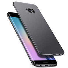Handyhülle Hülle Kunststoff Schutzhülle Treibsand Q01 für Samsung Galaxy S6 Edge SM-G925 Grau