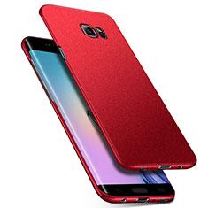 Handyhülle Hülle Kunststoff Schutzhülle Treibsand Q01 für Samsung Galaxy S6 Edge SM-G925 Rot