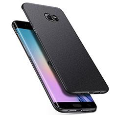 Handyhülle Hülle Kunststoff Schutzhülle Treibsand Q01 für Samsung Galaxy S6 Edge SM-G925 Schwarz