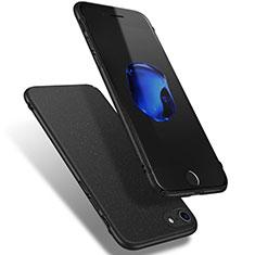 Handyhülle Hülle Kunststoff Schutzhülle Treibsand Q02 für Apple iPhone 7 Schwarz