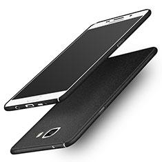 Handyhülle Hülle Kunststoff Schutzhülle Treibsand R01 für Samsung Galaxy A9 Pro (2016) SM-A9100 Schwarz