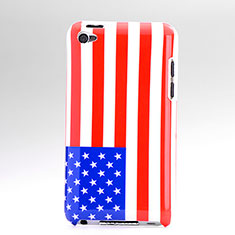 Handyhülle Hülle Kunststoff Schutzhülle USA Flagge für Apple iPod Touch 4 Bunt