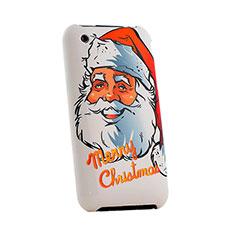 Handyhülle Hülle Kunststoff Schutzhülle Weihnachten für Apple iPhone 3G 3GS Rot