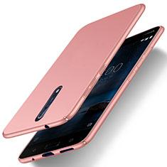 Handyhülle Hülle Kunststoff Tasche Matt für Nokia 8 Rosegold